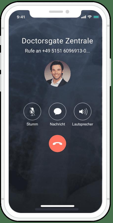 Doctorsgate App Smartphone Anruf Doctorsgate-Partners