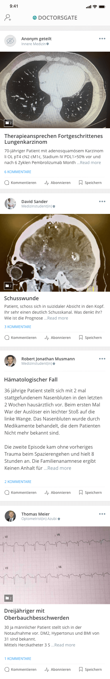 Doctorsgate App Slider Home Newsfeed Medical Cases